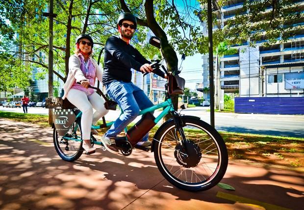 Bikxi é uma mistura de bike com táxi (Foto: Reprodução/Facebook/Bikxi)