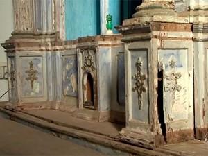 Restauração Igreja de São Miguel, em Itacaré. Bahia (Foto: Reprodução/ TV Bahia)
