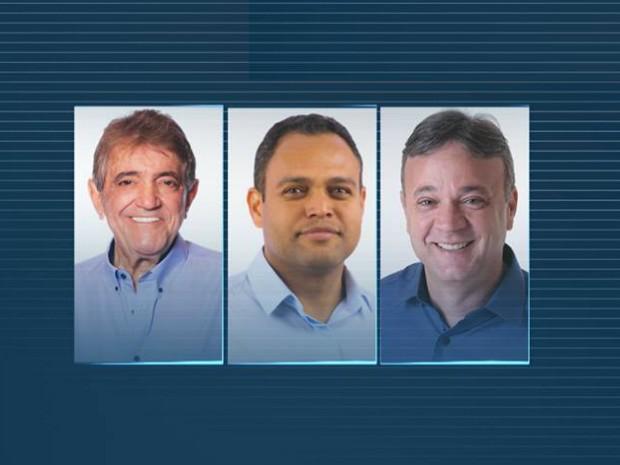 Candidatos a prefeito de Araxá (Foto: Reprodução/TV Integração)