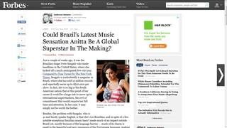 Forbes fala de Anitta (Foto: Reprodução)
