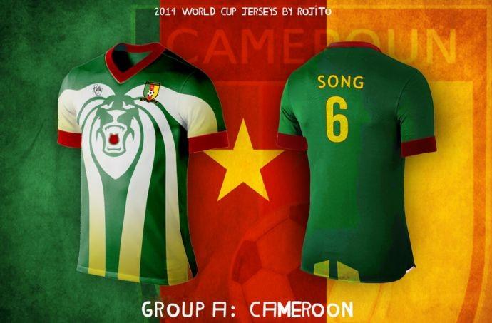 Blog da Copa - design camisa do Camarões
