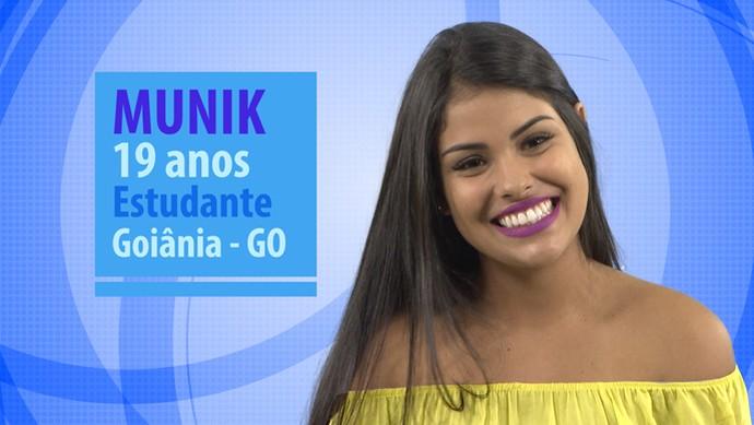 Munik é participante do BBB16 (Foto: Gshow)