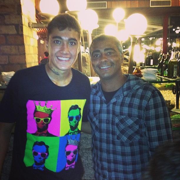 Romário posta foto com filho após conquista do campeonato (Foto: Instagram)
