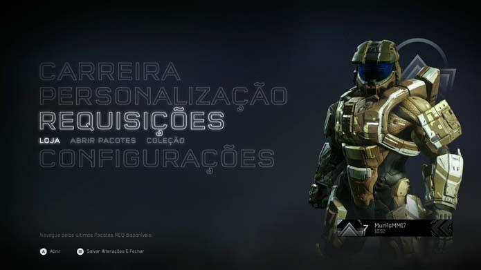 Halo 5: como desbloquear partes de armaduras (Foto: Reprodução/Murilo Molina)