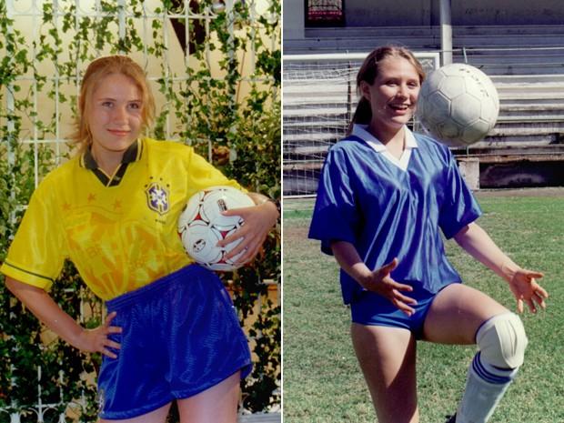 Rachel Ripani interpretava uma jogadora de futebol em Zazá (Foto: CEDOC / TV Globo)