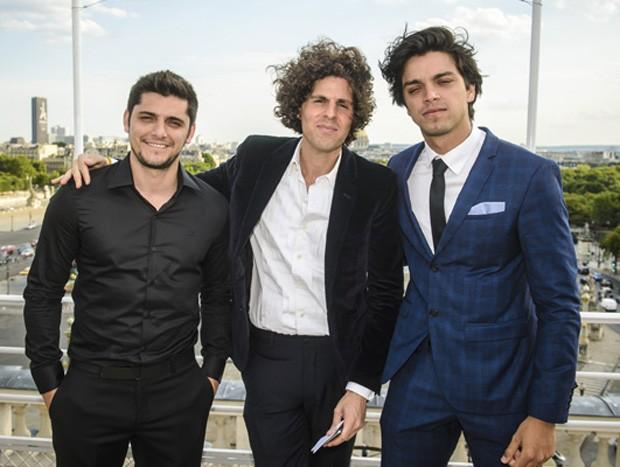 Bruno, Javier Zotes e Rodrigo Simas (Foto: Fabio Cordeiro / Ed. Globo)
