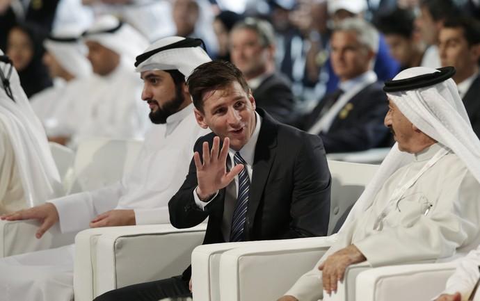 Messi em Dubai (Foto: EFE)
