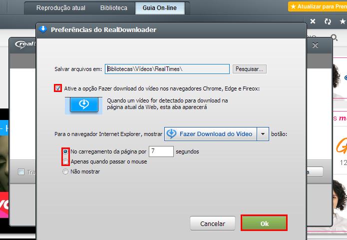 Ative os botões de download para os navegadores mais populares (Foto: Reprodução/Paulo Alves)