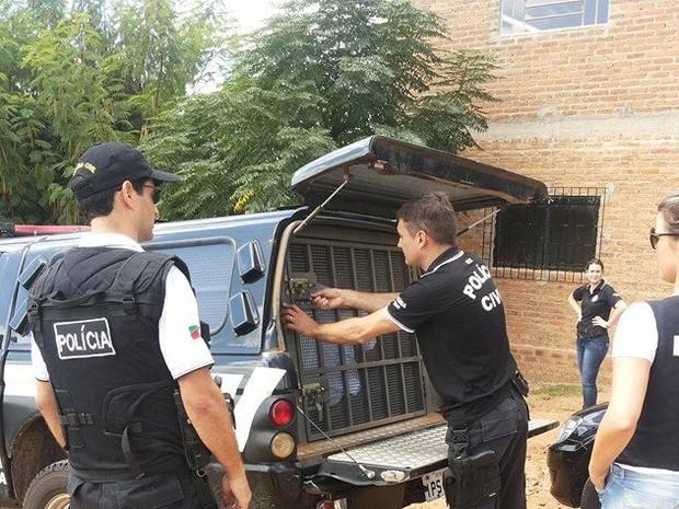 Três homens tiveram prisão decretada em operação em São Sepé, RS (Foto: Roberta Marques da Rocha Trevisan/Divulgação)