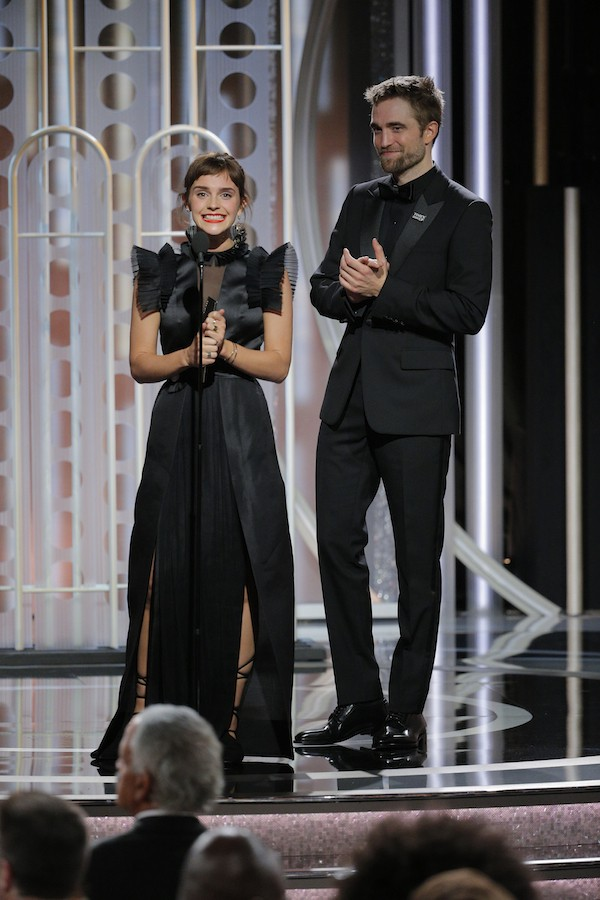 Emma Watson e Robert Pattinson no Globo de Ouro 2018 (Foto: Getty Images)