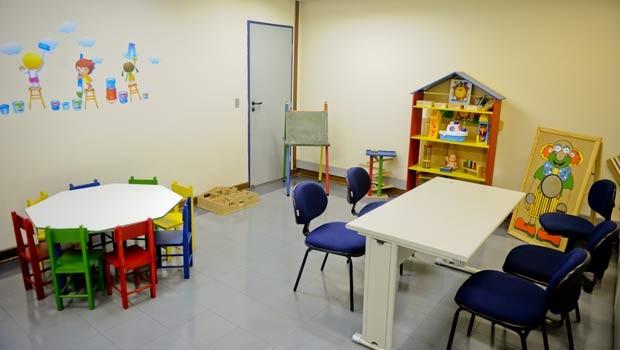 Sala especial é utilizada no Fórum da Barra Funda para depoimentos de crianças a psicólogos (Foto: Raul Zito/G1)