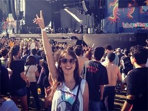 Thaiz Altoé, 22, foi buscada e achada na web após o Lolla, mas ficou só na amizade (Foto: Arquivo Pessoal)