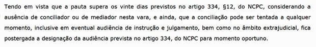 Decisão argumenta ausência de conciliador ou de mediador na 18ª Vara Cível de Curitiba. procurado, TJ-PR diz que estado possui mais Cejuscs por habitante do que São Paulo (Foto: Reprodução)