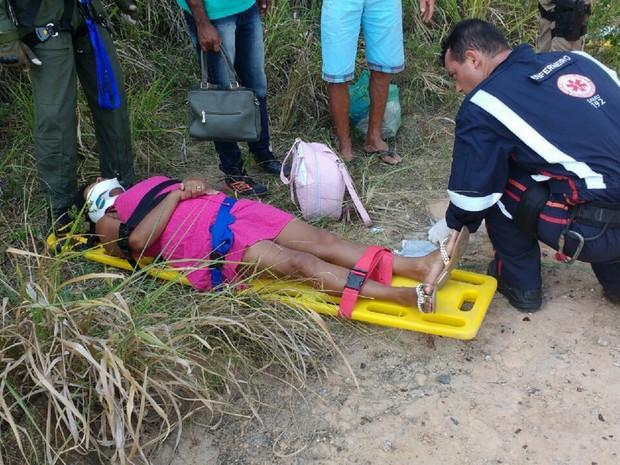Três dos cinco feridos foram levados ao HGE, em Maceió (Foto: Divulgação/SSP)