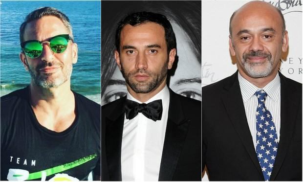 Os estilistas Marc Jacobs e Riccardo Tisci, da Givenchy, e o designer de sapatos Christian Louboutin vão estar nos jogos da Olimpíada Rio 2016, no Brasil (Foto: Getty Image)