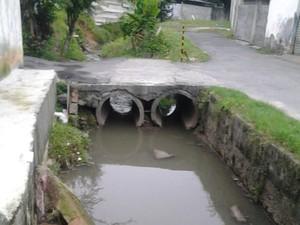 Córrego consta como canalizado na Prefeitura de SP (Foto: Felipe Melo Viana/VC no G1)