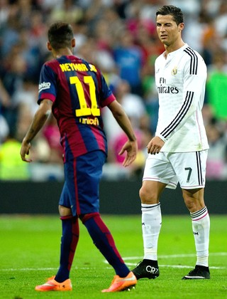 Neymar Cristiano Ronaldo Barcelona Real Madrid (Foto: Getty Images)