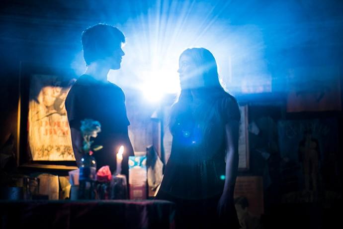 Cena contou com a projeção de 'Luzes da Cidade', clássico do cinema (Foto: Raphael Dias / Gshow)