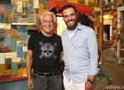 Antonio Fagundes e Rodrigo Lombardi (Foto: Carol Caminha / TV Globo)