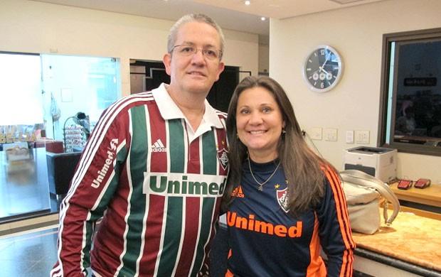Casal tricolor se hospeda no hotel do Palmeiras (Foto: Richard Souza / Globoesporte.com)