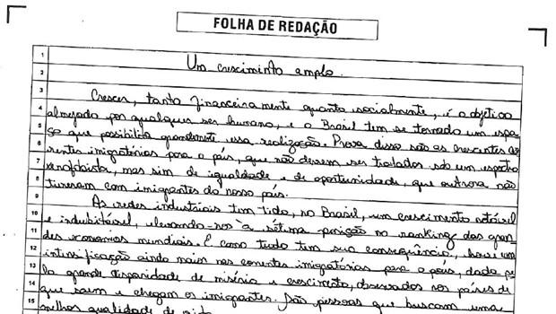 Após decisão judicial, estudante tem acesso à prova de redação do Enem (Foto: Reprodução)