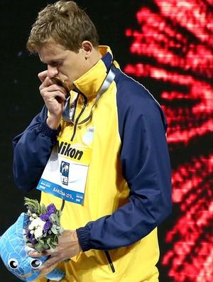 Cesar Cielo ouro 50m borboleta Mundial (Foto: Satiro Sodré / SSPress)