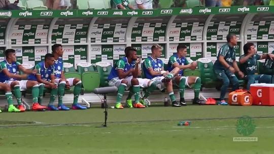 Ônibus, vestiário e espera: Palmeiras divulga bastidores de Borja até o gol