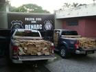 Cinco homens são presos com 2,7 toneladas de droga em caminhonetes