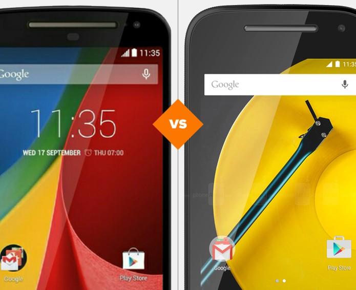 Moto G ou Moto E: qual smart da Motorola leva a melhor?  (Foto: Arte/TechTudo)