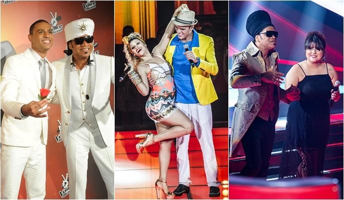 Os cantores Romero Ribeiro, Marcos Lessa, Aila Menezes e Débora Coutinho são os convidados do The Voice Pocket. (Foto: Divulgação / Globo)