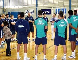 Vôlei Marcelo Mendez, técnico do Cruzeiro (Foto: Leonardo Simonini)