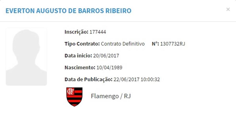 Éverton Ribeiro aparece no BID (Foto: Reprodução)
