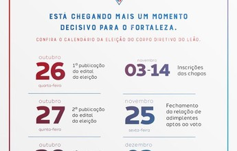 Comissão eleitoral define datas de inscrição de chapas no Leão