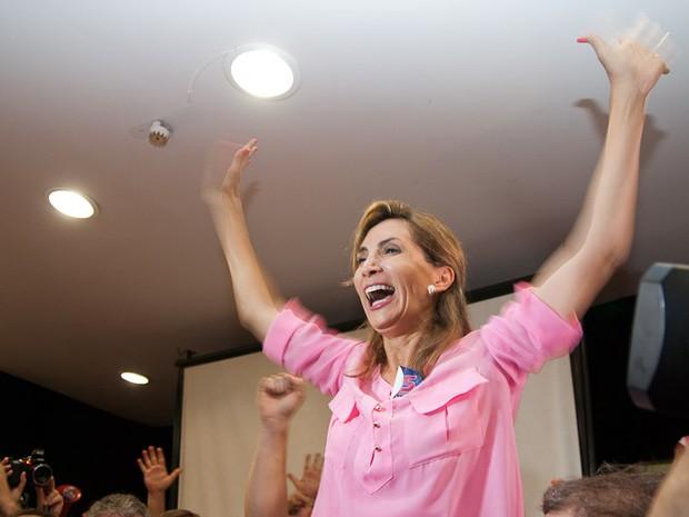 Dárcy Vera é reeleita em Ribeirão Preto, SP (Foto: Érico Andrade/G1)