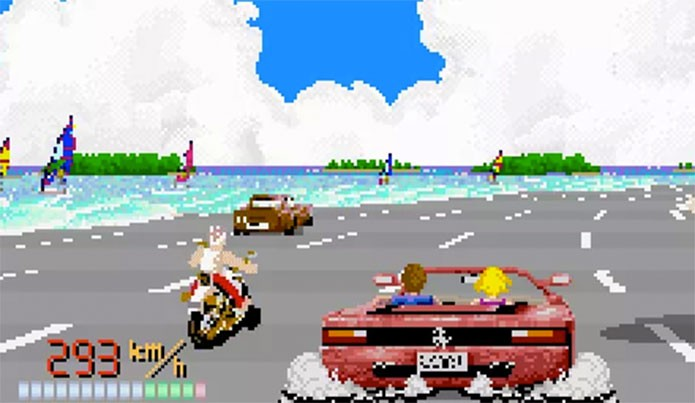 Out Run tinha moto escondida e descoberta 27 anos depois (Foto: Reprodução/Reassembler)