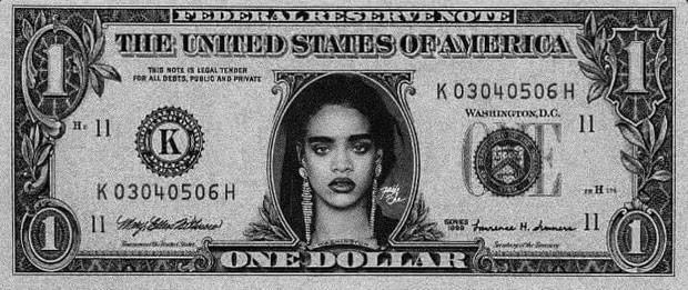 No Rock in Rio, fãs de Rihanna vão jogar 'dólar' com rosto da cantora durante a música 'Bitch better have my money' (Foto: Reprodução/rihannaonline.com.br)