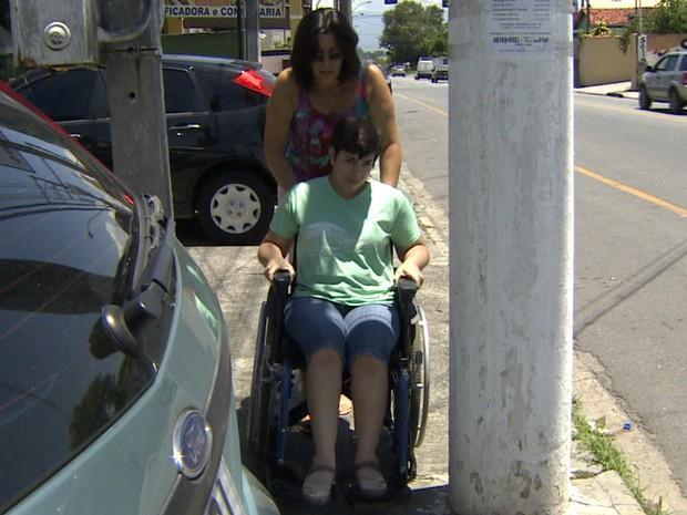 Cadeirante Taubaté (Foto: Reprodução/TV Vanguarda)