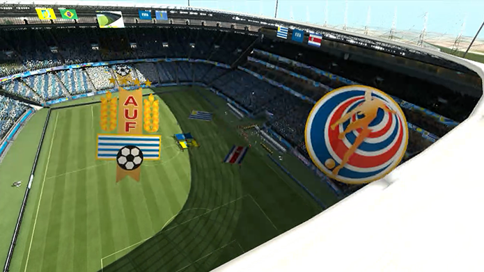 Simulação Copa do Mundo Fifa 2014: Uruguai x Costa Rica (Foto: Reprodução/Murilo Molina)