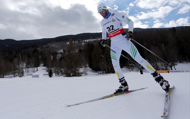 Esqui Cross country Leandro Ribela no Mundial da Itália (Foto: Agência AFP)