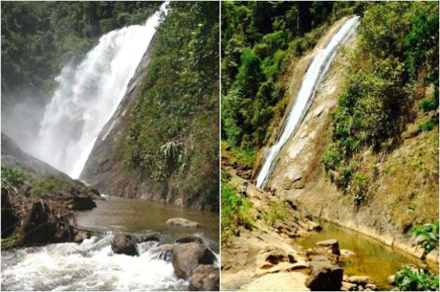 Nível da água antes e depois (Foto: Dório Storch/ VC no ESTV)