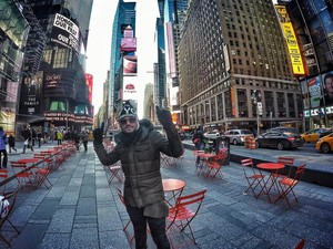 Fernando em Nova York (Foto: Reprodução/Instagram)
