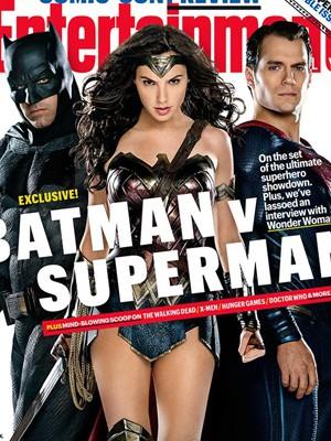 Capa traz filme 'Batman vs Superman: A Origem da Justiça' (Foto: Divulgação/'Entertainment Weekly')