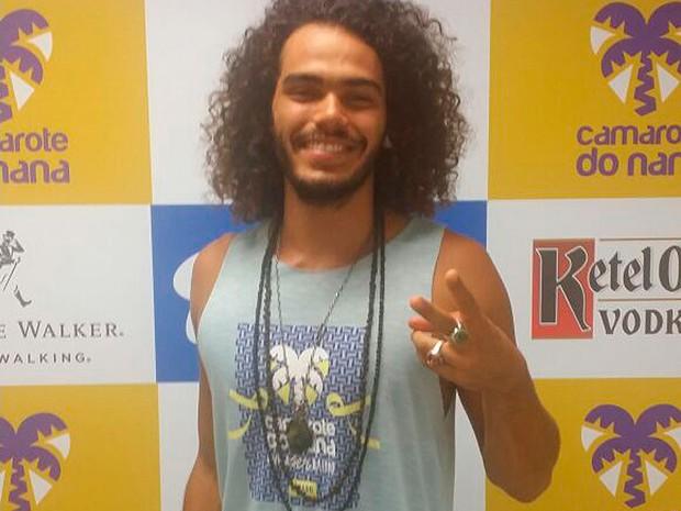 Ator Enzo Romani no carnaval de Salvador, Bahia (Foto: Hailton Andrade/ G1)