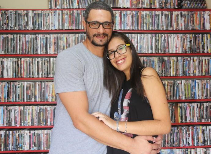 Daniel, participante do BBB17, com a filha Sabrina (Foto: Fernanda Frozza/Gshow)