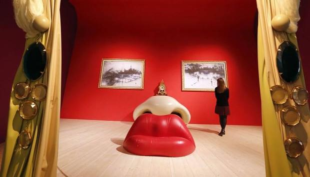 Sala Rita Mae West em exposição (Foto: Fundação Gala-Salvador Dalí)
