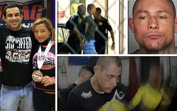 chamada carrossel Thiago Silva preso lutador MMA (Foto: Editoria de Arte)