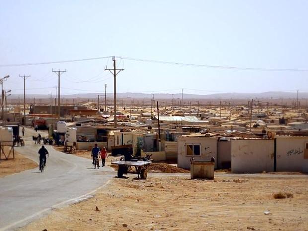 PREP_ Refugiados sírios campo de Zaatari, na Jordânia (Foto: TV Globo)