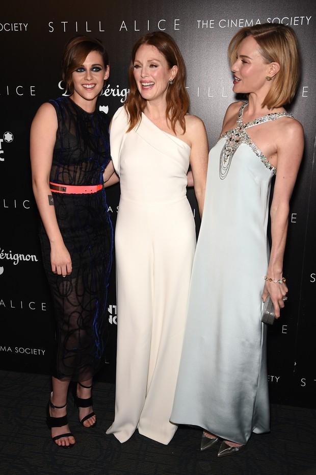 Kristen Stewart, Julianne Moore e Kate Bosworth em première de filme em Nova York, nos Estados Unidos (Foto: Dimitrios Kambouris/ Getty Images/ AFP)