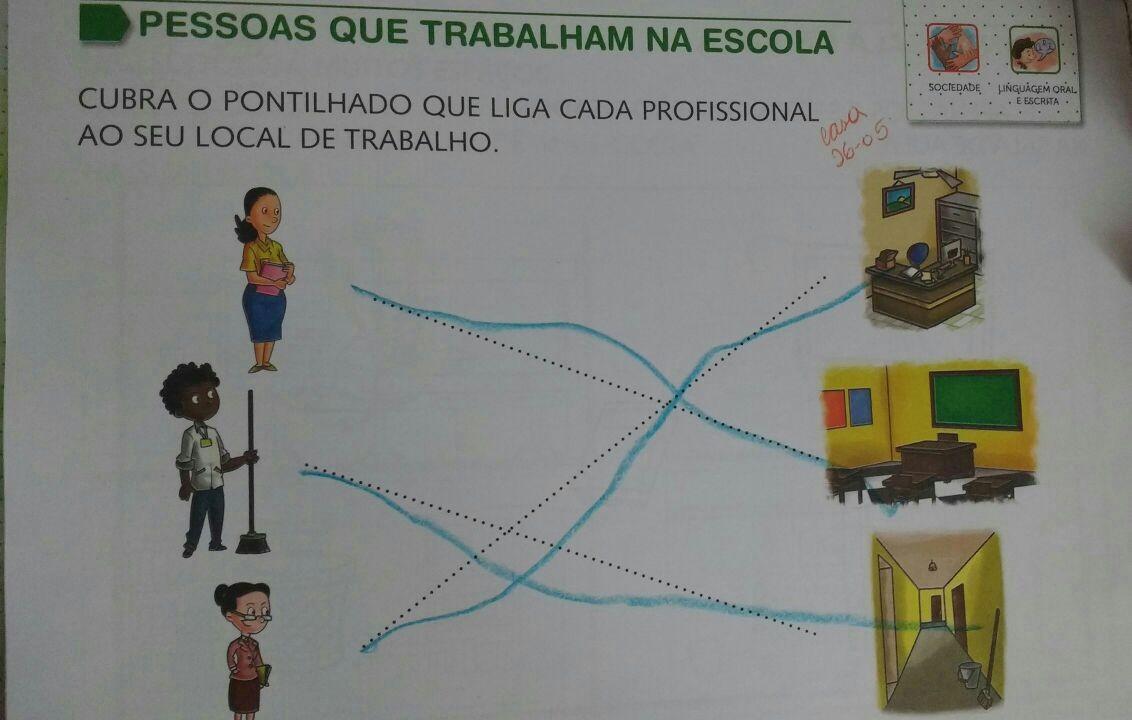 Atividade presente no livro da Editora Formando Cidadãos, destinado para crianças de 3 anos de idade (Foto: Arquivo pessoal)