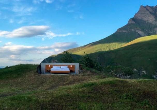 Hotel sem paredes na Suíça tem lista de espera até 2017